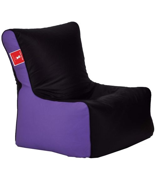 Bean Bag Chair With Beans In Black Lavender Colour By Comfy Bags