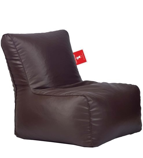 Bean Bag Chair With Beans In Brown Colour By Comfy Bags