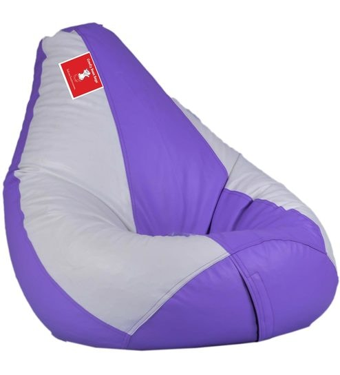 Bean Bag Cover In Lavender White Colour By Comfy Bags