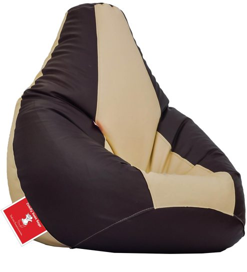 Bean Bag With Beans In Brown Cream Colour By Comfy Bags