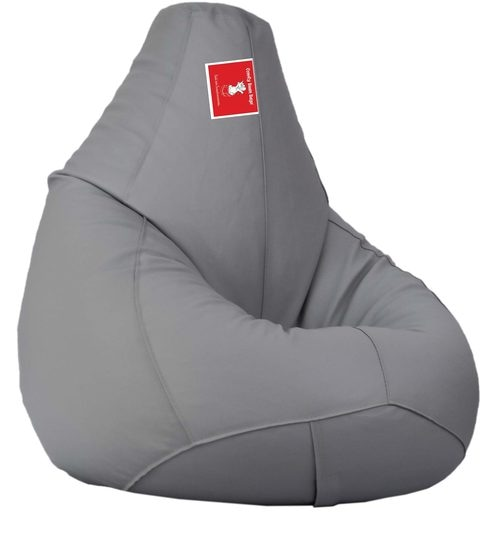 Bean Bag With Beans In Light Grey Colour By Comfy Bags