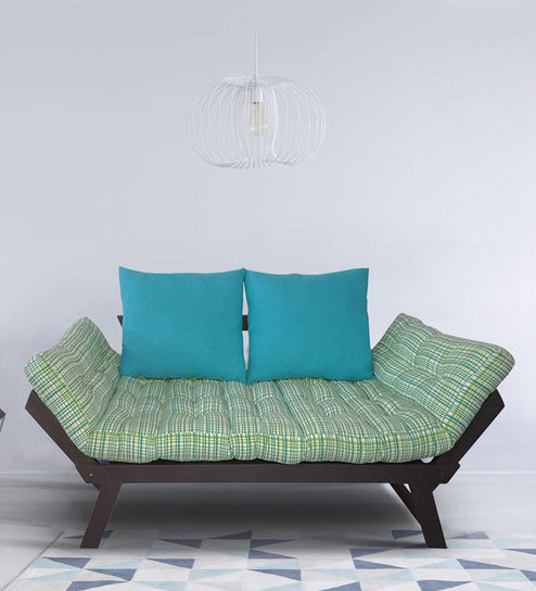 Beat Double Futon With Mattress In Ochre Colour By Arra