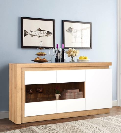 Stupendous Beatrice Sideboard In White High Gloss And Oak Color By Hometown Download Free Architecture Designs Griteanizatbritishbridgeorg