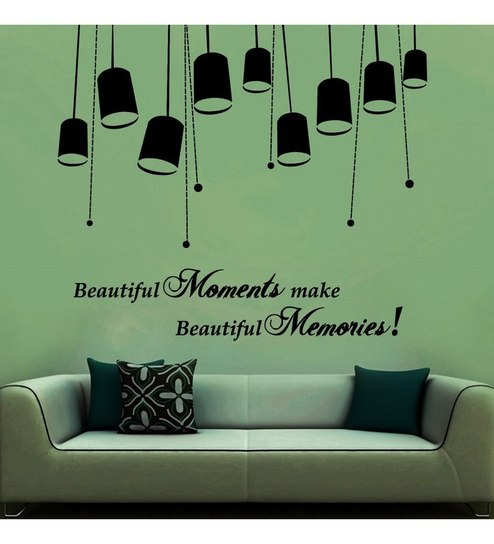 buy creative width beautiful moments black vinyl wall sticker