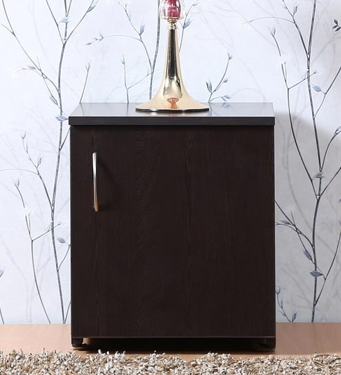 bed side table in wenge matte finish by fullstock