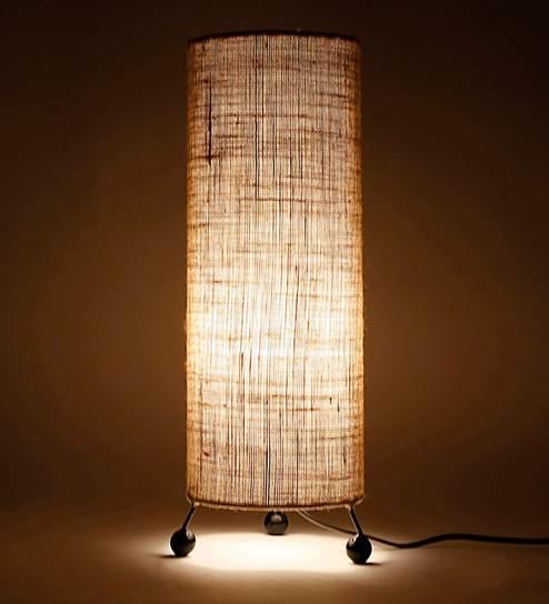 Beige Jute Table Lamp By Lavish