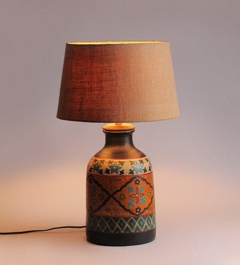 Beige Jute Table Lamp By Fabuliv