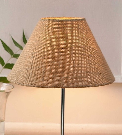 Beige Jute And Stiffener Unique Lamp Shade By New Era Online Contemporary Shades Lamps Lighting Pepperfry Product