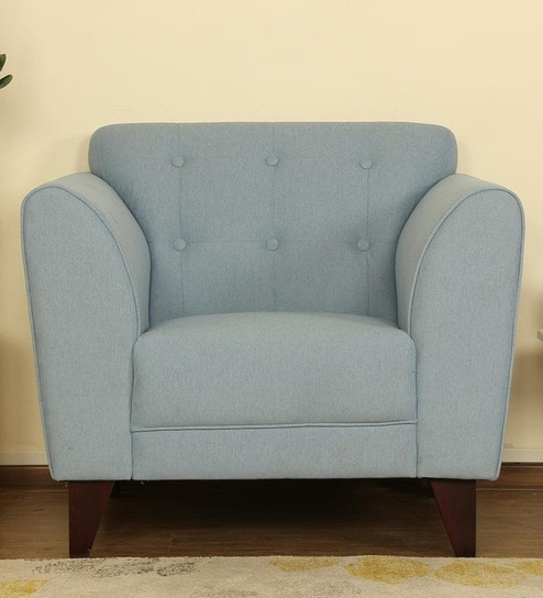 Belem One Seater Sofa In Ice Blue Color By Casacraft 0s17l7lz