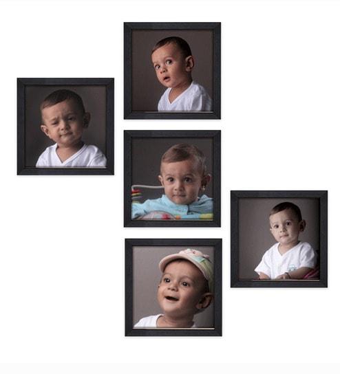Buy Bello Photo Frames Black Italian Photo Frame - Set of Five ...