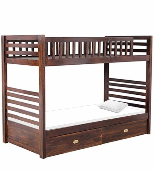 Buy Woodinville Solid Wood Bunk Bed In Provincial Teak Finish By