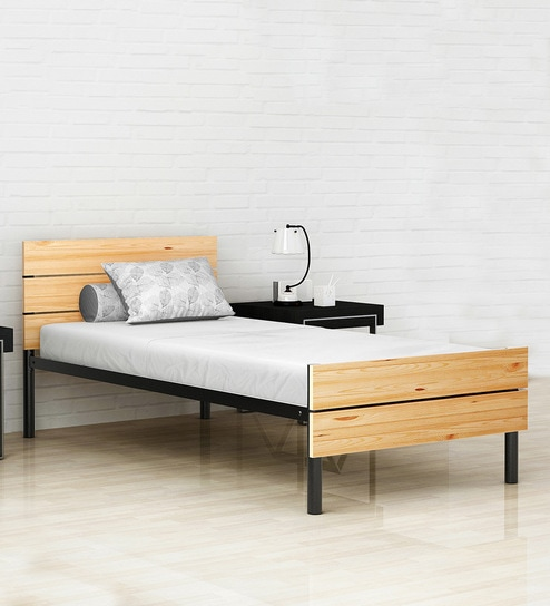 Buy Benne Twin Size Bed With 5 Inch Memory Foam Mattress By Camabeds
