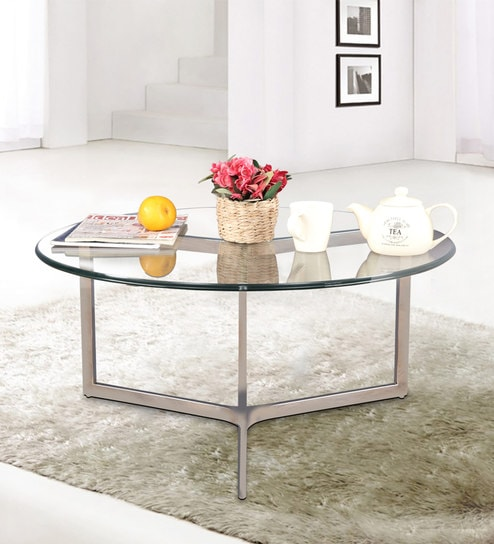 Glass Table Coffee Table.Benz Stainless Steel Glass Top Center Table By Hometown