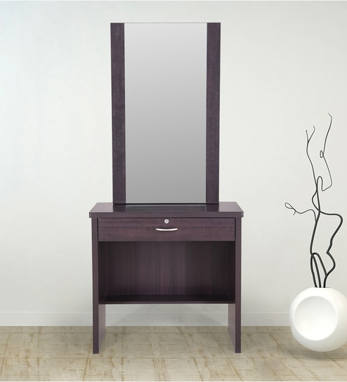 low priced 163d9 71c55 Berlin Dressing table with hidden mirror storage and stool by RoyalOak