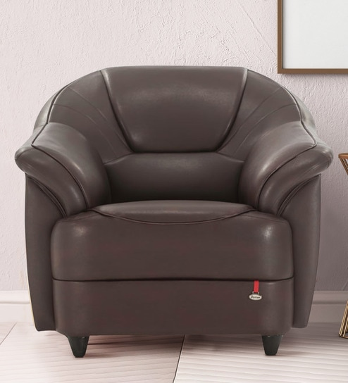 5ab39e312fc Buy Berry One Seater Sofa in Brown Colour by Durian Online - One Seater  Sofas - Sofas - Furniture - Pepperfry Product