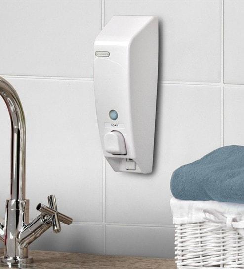 Better Living Classic White Plastic 3.3 X 3.3 X 10 Inch Single Soap  Dispenser