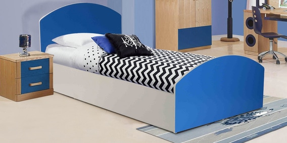 Aqua Splash Kids Bed In White Blue Finish