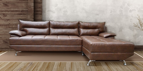 Berlin Lhs Sofa In Brown Colour By Livestyle Furniture
