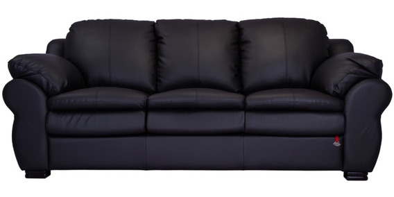 berry classic english three seater sofa in dark brown colour by