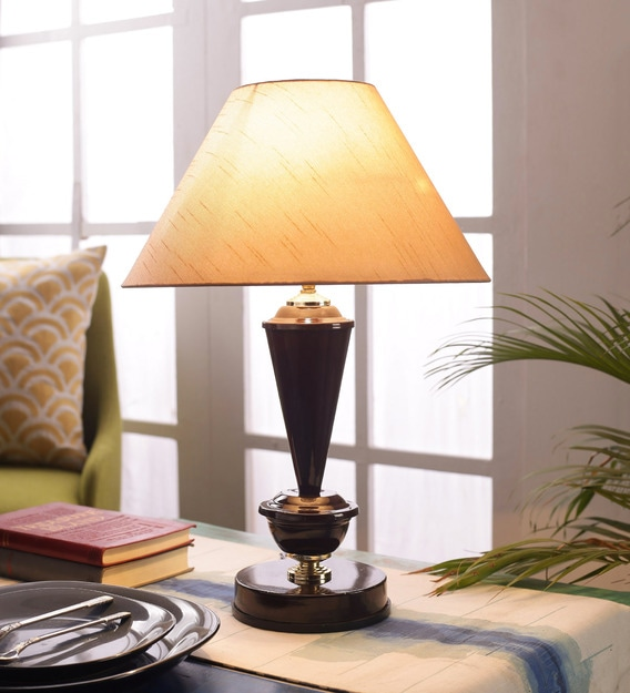 Beige Cotton Table Lamp By Foziq, Table Lamps For Living Room The Range