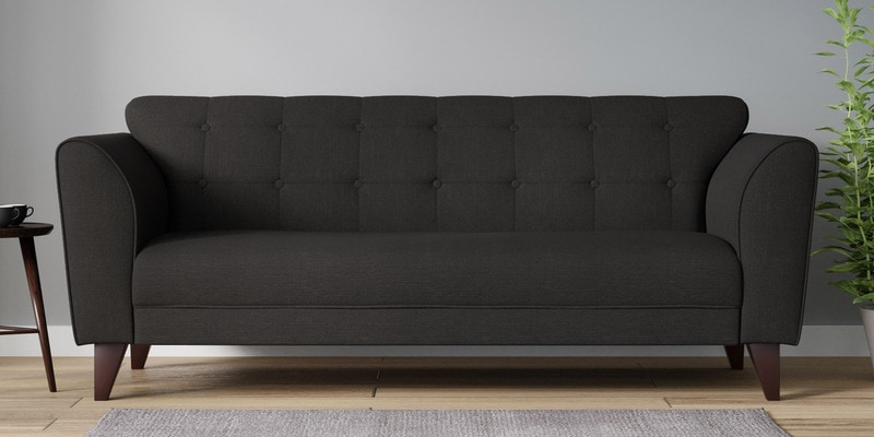 Buy Belem Three Seater Sofa in Charcoal Grey Color by CasaCraft ...