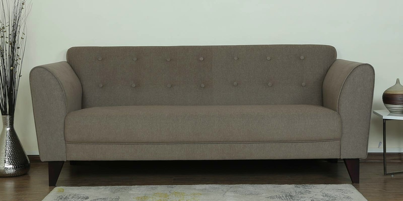 Belem Three Seater Sofa in Sandy Brown Color by CasaCraft