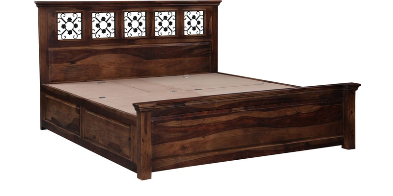 Solid Wood Furniture King Bed Storage