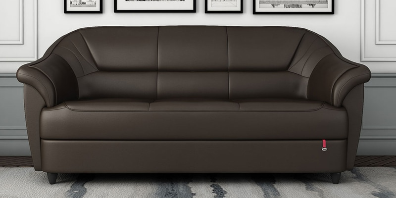 Berry 3 Seater Sofa In Coffee Brown Colour By Durian