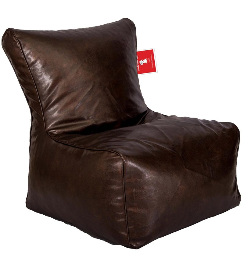 Buy Bean Bag Chair Cover in Premium Brown Colour by Comfy ...