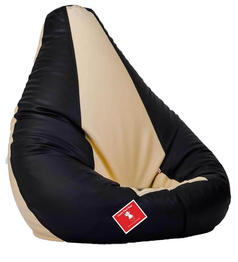 Bean Bag Cover in Black & Cream Colour by Comfy Bean Bags