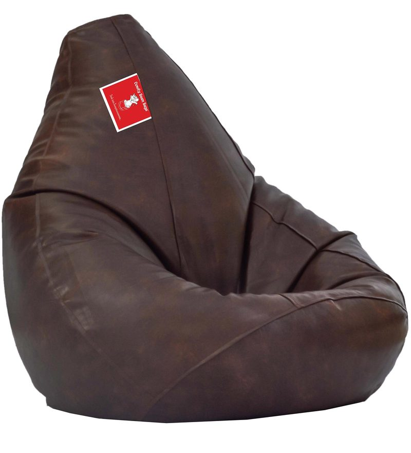 Bean Bag Cover in Dark Coffee Colour by Comfy Bean Bags