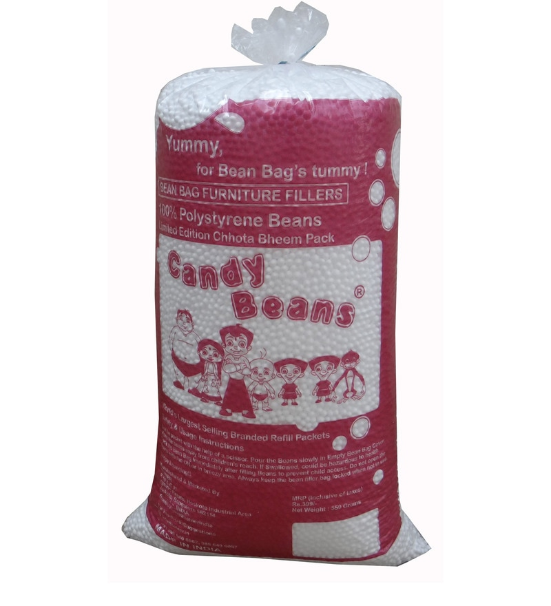 1 Kg Beans Bag Refills in White Colour by Orka