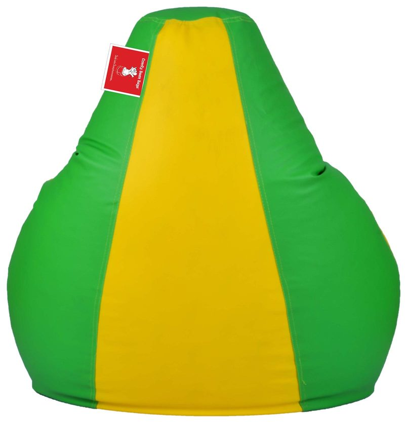 Buy Bean Bag With Beans In Parrot Green Yellow Colour By Comfy