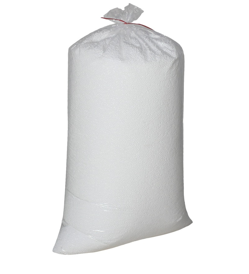 2 Kg Beans Bag Refills in White Colour by Sattva