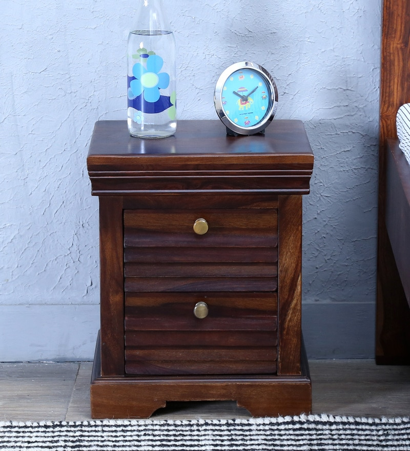 Carleson Bed Side Table in Provincial Teak Finish by Amberville