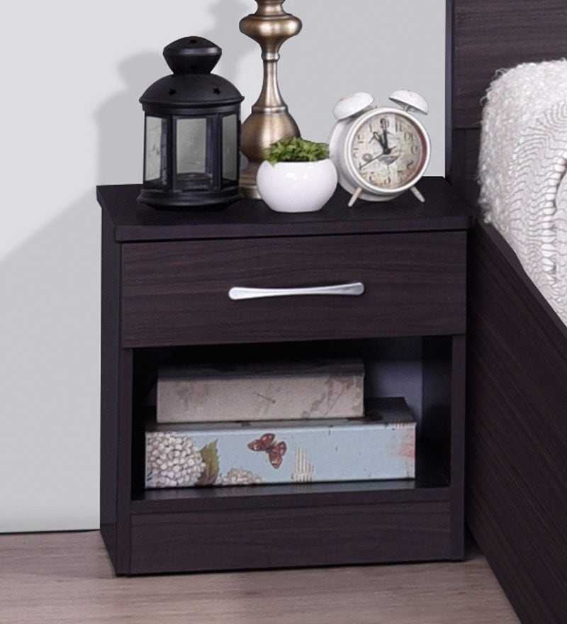 Buy Tomo Bedside Table In Walnut Finish By Mintwud Online