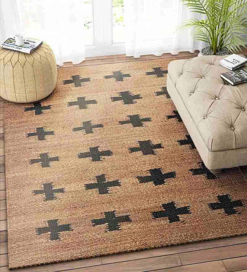 Beige Jute 90 x 60 Inch Carpet by Imperial Knots