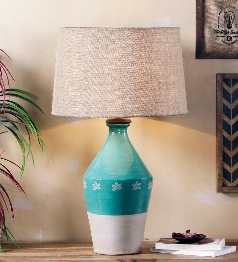 Beige Jute Murano Table Lamp by Fabuliv