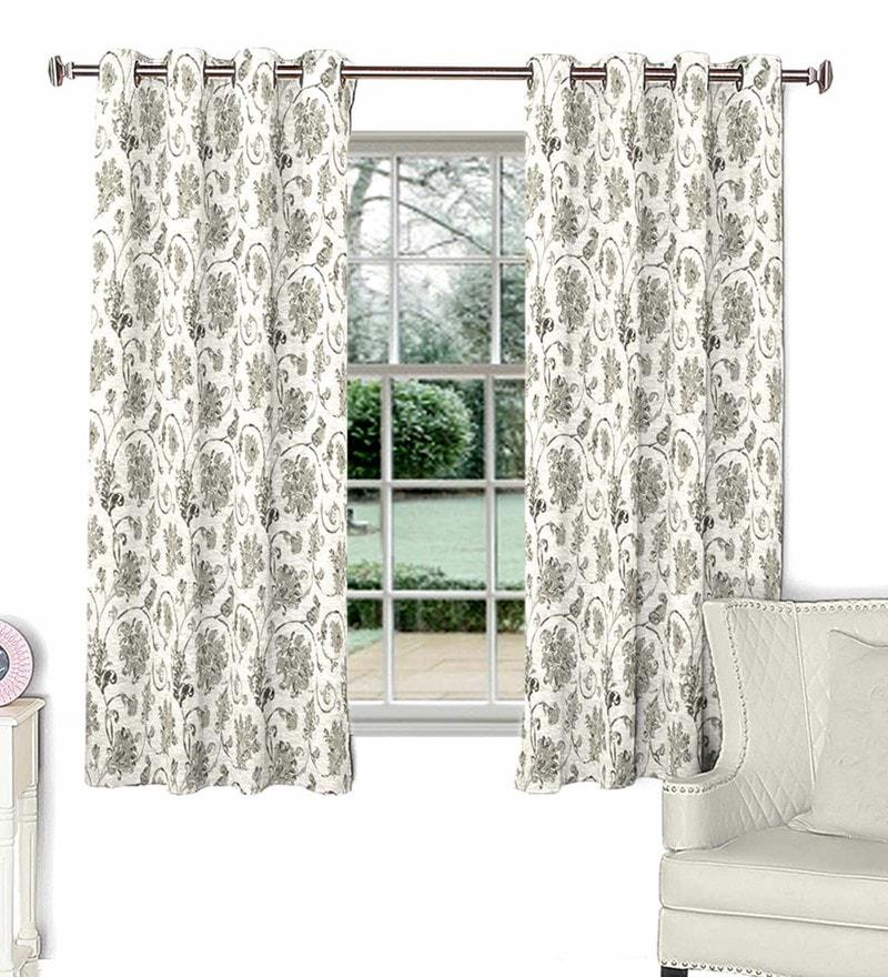 Beige Poly Cotton Window Curtain by Skipper