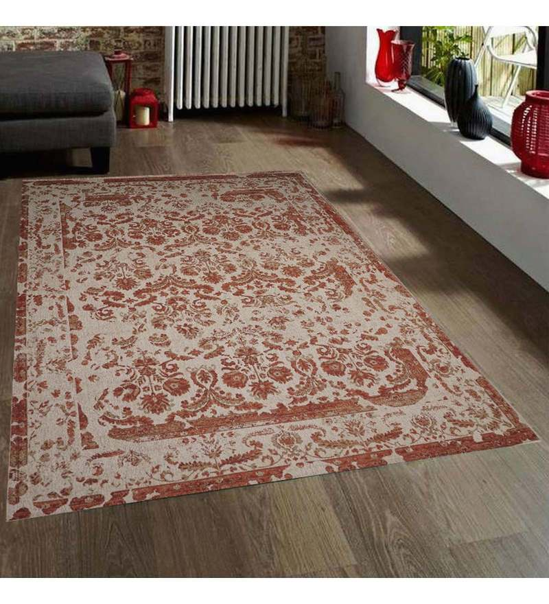 Beige Wool 90 x 63 Inch Carpet by Designs View