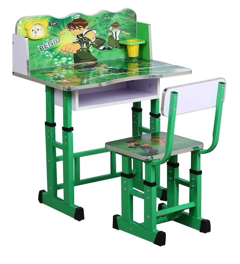 Buy Ben10 Kids Study Table Amp Chair Set In Green Color By