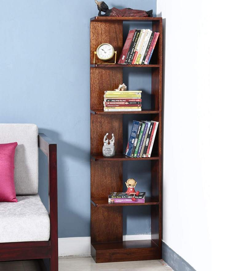 Amery Tall Book Shelf in Honey Oak Finish by Woodsworth