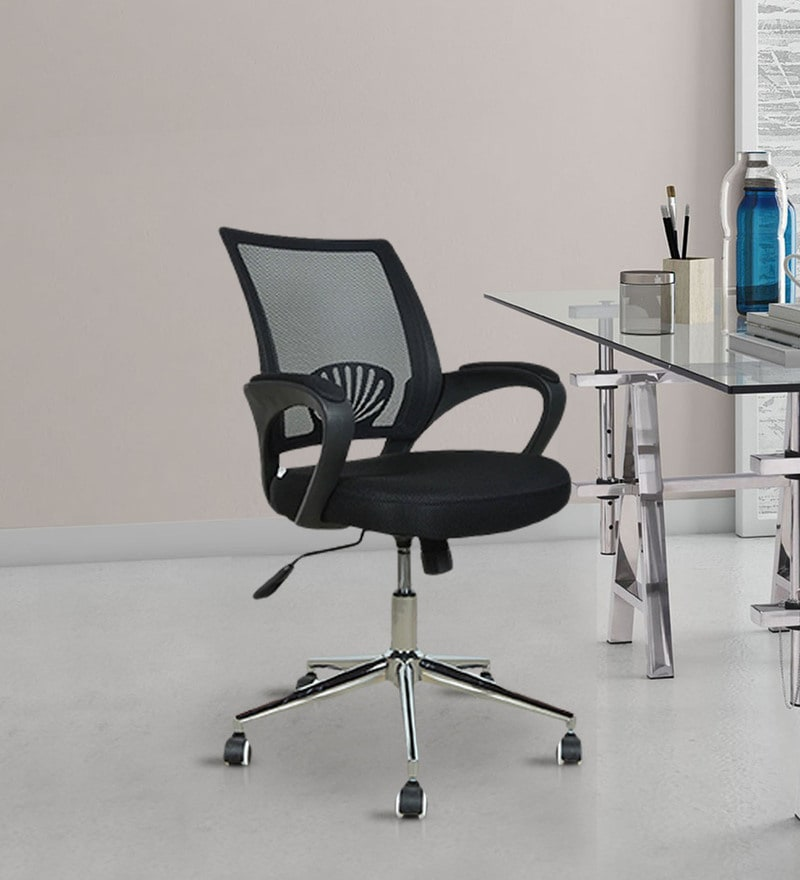 Berry Ergonomic Chair in Black Colour by Royal Oak