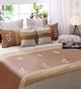 Bella Beige and Cream Cotton Queen Size Bedsheet - Set of 5
