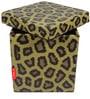 Leopard Print Storage Ottoman by Orka