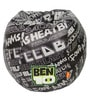 Digital Printed Kids Bean Bag with Beans in Multicolour by Orka