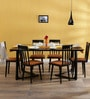 Bernadita Six Seater Dining Set in Espresso Walnut Finish by Woodsworth