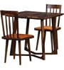 Bernadita Two Seater Dining Set in Provincial Teak Finish by Woodsworth