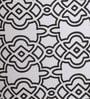 Black & White Cotton Humpty Table Lamp by Bespoke