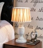 Brown Poly Cotton Table Lamp by Beverly Studio